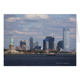 Skyline with Statue of Liberty Card