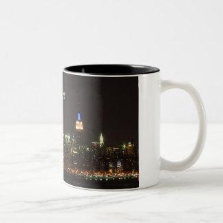skylinenight, New York, NY Two-Tone Coffee Mug