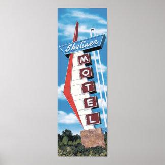 Skyliner Motel on Route 66 Retro Poster