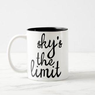 Sky's the Limit Two-Tone Coffee Mug