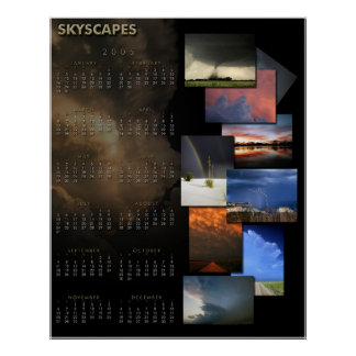 Skyscapes 2005 Calendar Poster