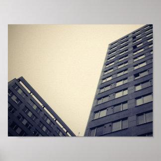 Skyscraper exterior view poster