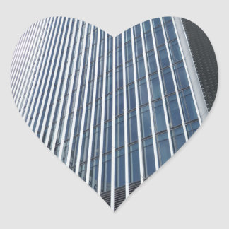 Skyscraper Front Structure Heart Sticker