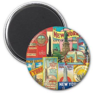 Skyscraper of New York 2 Inch Round Magnet