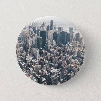 Skyscrapers and Rooftops of New York City 2 Inch Round Button