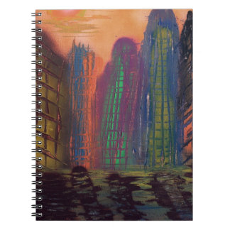 Skyscrapers by the river notebooks