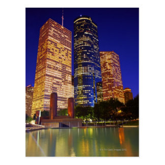 Skyscrapers in downtown Houston reflected in Postcard
