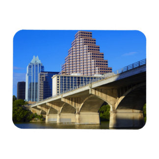 Skyscrapers of Downtown Austin and Colorado Rectangular Photo Magnet