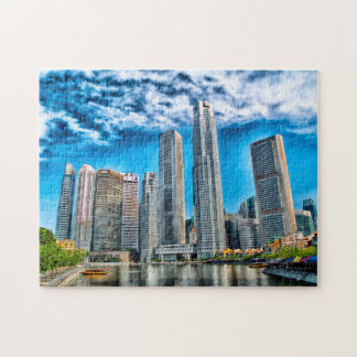 Skyscrapers Singapore Skyline . Jigsaw Puzzle