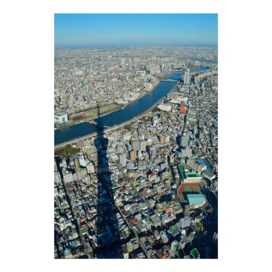 Skytree Overshadows Tokyo Poster