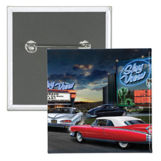 Skyview Drive In 2 2 Inch Square Button