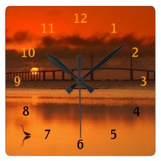 Skyway Bridge Square Wall Clock