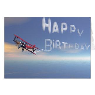 Skywriter birthday card