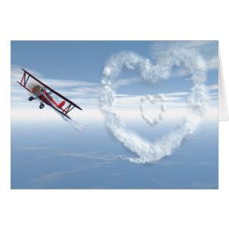 Skywriter Valentine Card