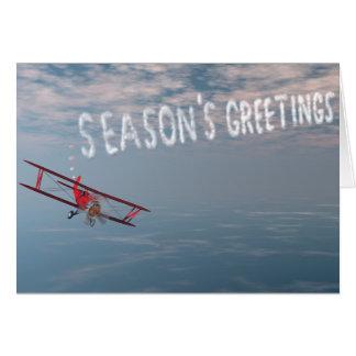 Skywriting Season's Greetings card