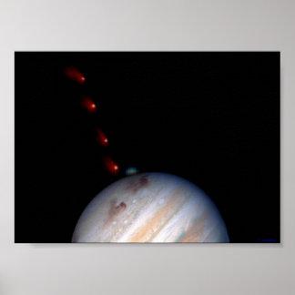 SL9 impacting Jupiter Poster