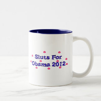 SL*TS FOR OBAMA Two-Tone COFFEE MUG