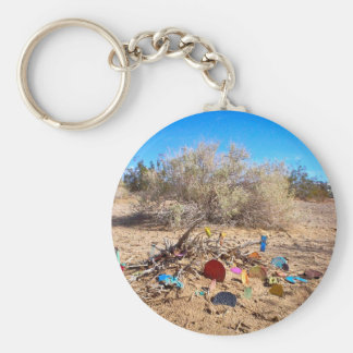Slab City Trash Garden Basic Round Button Keychain
