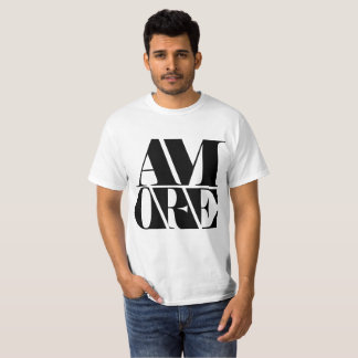 Slab Serif Typeface Black Am Are Man Handsome T-Shirt