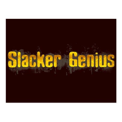 Slacker Genius Postcards