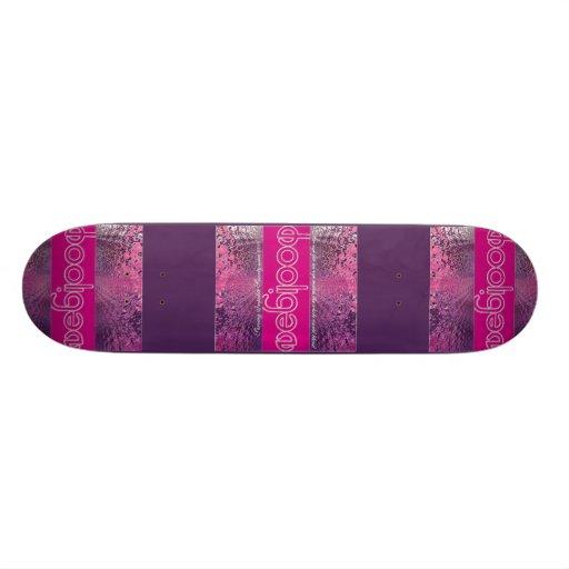 Slackers, Kings & Hooligans Purple Wave Skate Board Deck
