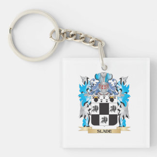 Slade Coat of Arms - Family Crest Square Acrylic Key Chain