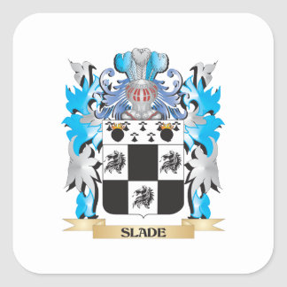 Slade Coat of Arms - Family Crest Square Sticker