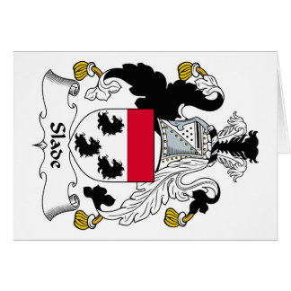 Slade Family Crest Greeting Card