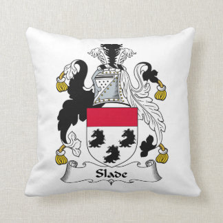 Slade Family Crest Throw Pillow