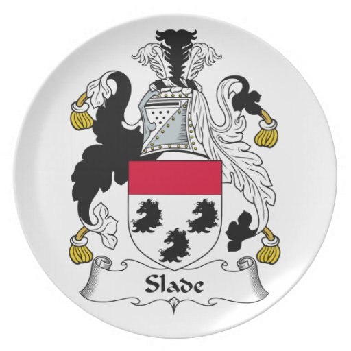 Slade Family Crest Party Plates
