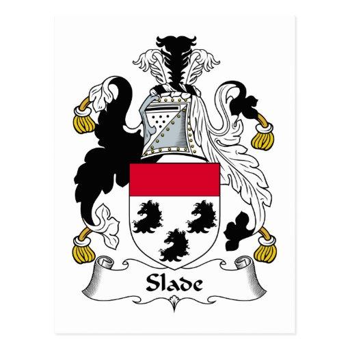 Slade Family Crest Post Card