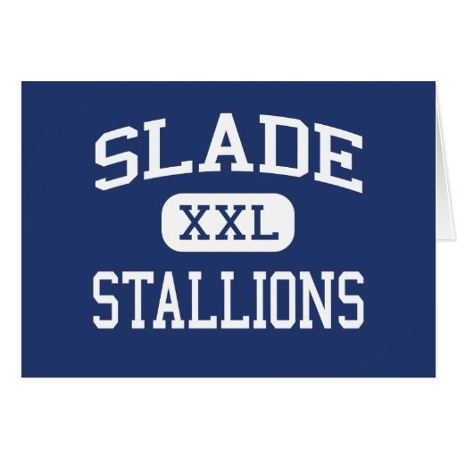 Slade Stallions Middle New Britain Greeting Cards