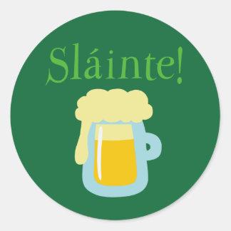Sláinte Beer Classic Round Sticker
