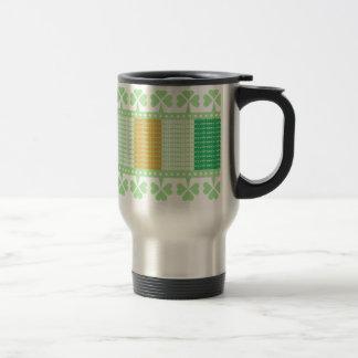 Slainte Flag Shamrock Stainless Steel Travel Mug