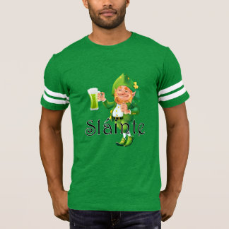 Slainte Irish Expression and Leprechaun T-Shirt
