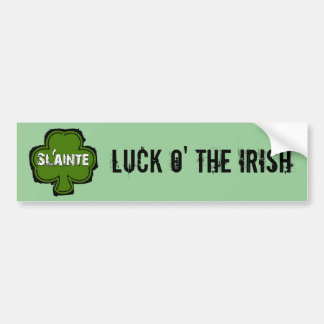 Sláinte Irish Health and Cheers Bumper Sticker