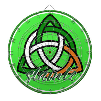 Slainte St. Patrick's Day Irish Celtic Dartboard