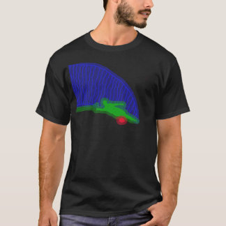 Slalom Water Skier Neon Spray T-Shirt