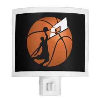 Slam Dunk Basketball Player w/Hoop on Ball Night Lights
