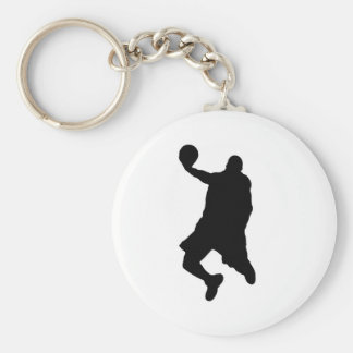 Slam Dunk Player Silhouette Basic Round Button Keychain
