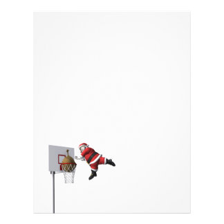 Slam Dunk Santa Claus Custom Letterhead