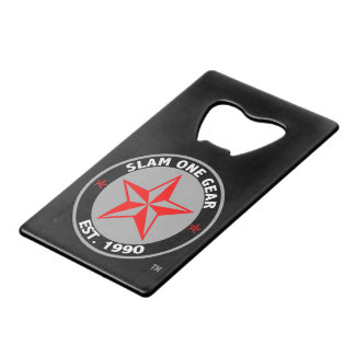 Slam One Gear Bottle Opener Credit Card Bottle Opener