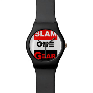 SLAM ONE GEAR RED WHITE AND BLACK WATCH
