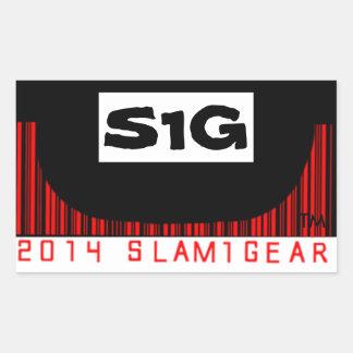 SLAM ONE GEAR S1G HALF PIPE STICKERS