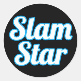 Slam Star Round Sticker