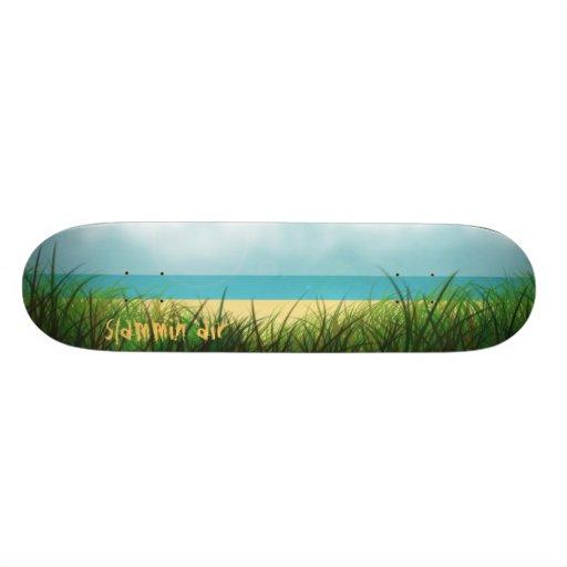 Slammin Air Beachin Skate Board Deck