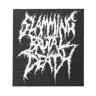 Slamming Brutal Death Metal Notepad