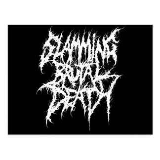 Slamming Brutal Death Metal Postcard