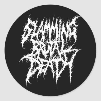 Slamming Brutal Death Metal Round Sticker