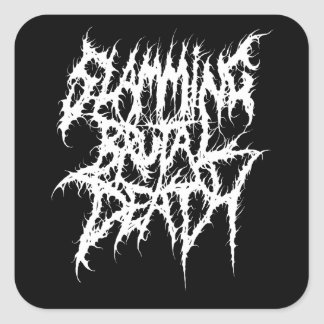 Slamming Brutal Death Metal Square Sticker